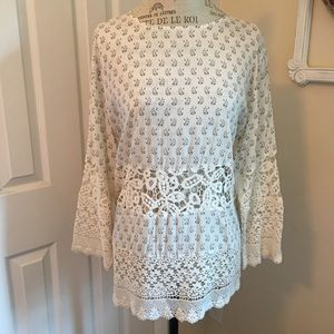 FRENCH CONNECTION CROCHET BLOUSE SIZE 8 NWT